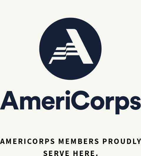 Americorps members produly serve here