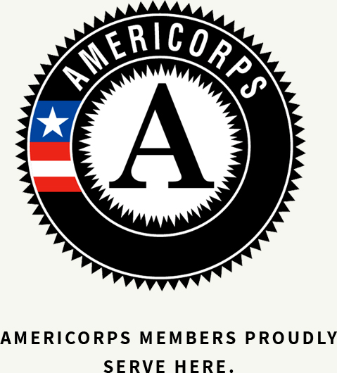 Americorps members produly serve here